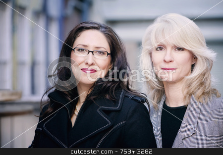 Portrait of Businesswomen stock photo, Portrait of fashionable brunette and blonde businesswomen by Scott Griessel