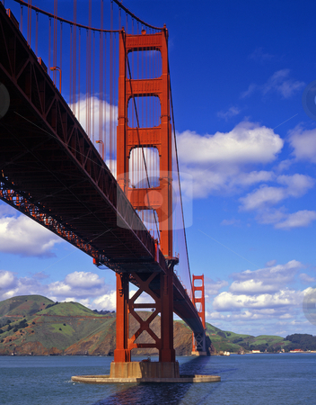 Golden Gate Bridge 2 stock photo, The Golden Gate Bridge in San Francisco, California. by Mike Norton