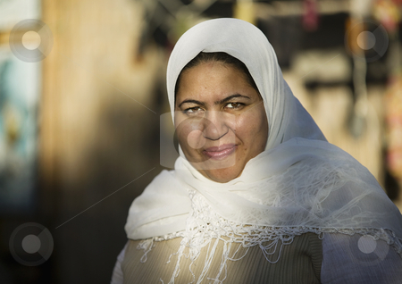 Muslim Woman Outdoors stock photo, Muslim woman wearing a head scarf outdoors by Scott Griessel