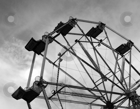 Ferris Wheel stock photo, A ferris wheel in a fair ground. by Lucy Clark
