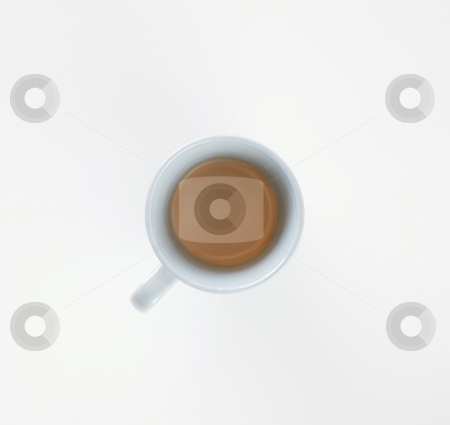 Coffee on White stock photo, Coffe in espresso cup on a white background. by Scott Griessel