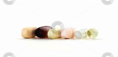 Vitamins and Supplements stock photo, Vitamins and Supplements Isoltaed Against a Pure White Background. by Scott Griessel