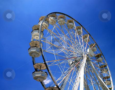 Ferris Wheel stock photo, A ferris wheel in a fair ground. by Lucy Clark