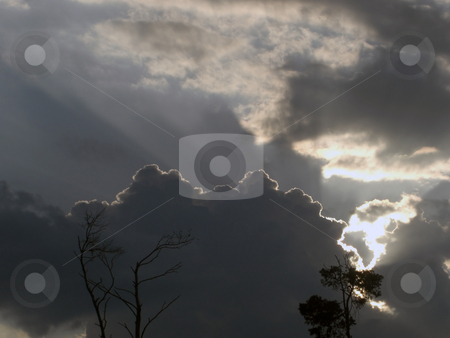 The Silver Lining stock photo, A vivid silver lining is outlining a black cloud up in the sky by Rebecca Mosoetsa