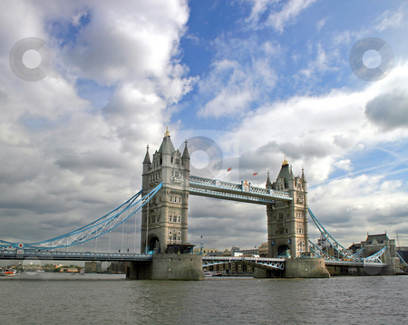 Tower Bridge stock photo, Tower Bridge, full length, in London, UK. by Lucy Clark