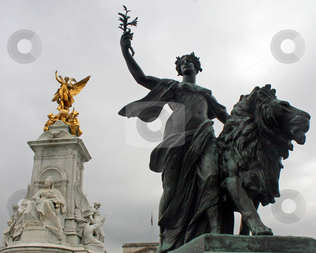 Statues stock photo, Two Statues in London, UK. by Lucy Clark
