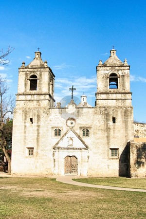 San Antonio Mission stock photo, On of the several historic missions of the San Antonio National Heritage Park in Texas by Kevin Tietz