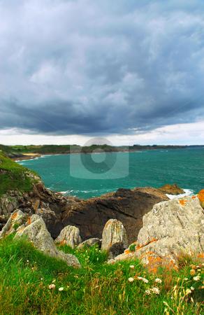 Atlantic coastline in Brittany, France stock photo, Summer lansdcape of Atlantic coastline in Brittany, France by Elena Elisseeva