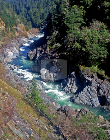 Klamath River 1 stock photo, The Klamath River in northern California. by Mike Norton