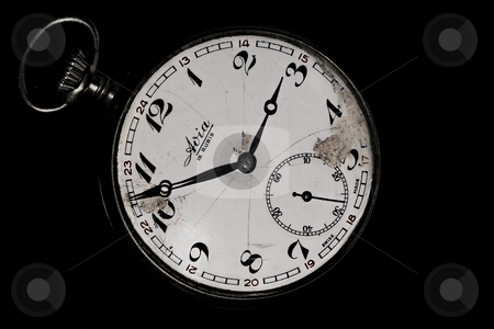... an ancient pocket clock (front side) stock photo,  by emiliano beltrani