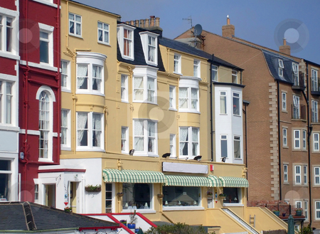 Tourist bed and breakfast hotels stock photo, Tourist bed and breakfast hotels in seaside resort of Scarborough, England. by Martin Crowdy