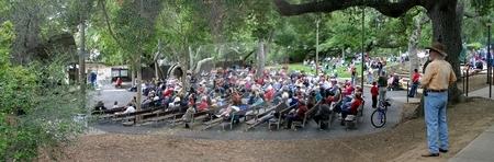 Ojai Memorial Day stock photo, Ojai Memorial Day in Libby Park by Henrik Lehnerer