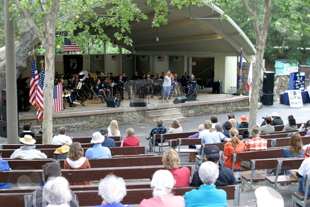 Ojai Memorial Day stock photo, Ojai Memorial Day in Libby Park by Henrik Lehnerer