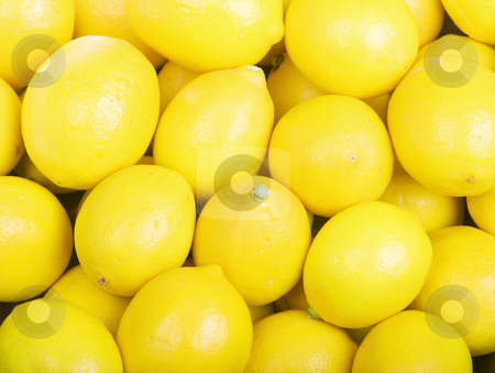 Lemons stock photo, Yellow Organic Lemons Fill the Frame by Scott Griessel