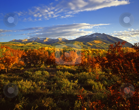 West Beckwith Mountain Colorado stock photo, West Beckwith Mountain in the Gunnison National Forest, Colorado. by Mike Norton