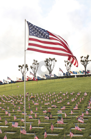 National Cemetery stock photo, United States National Cemetery of fallen Heroes by ImageZebra .
