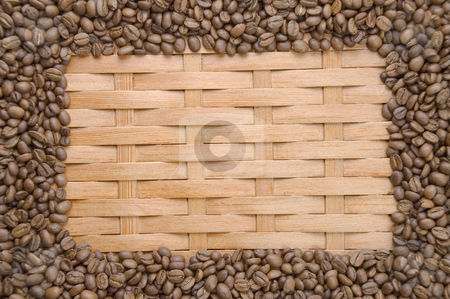 Coffee in grains. stock photo, Coffee in grains on a background of a tree. by Yury Ponomarev
