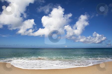 Clear blue sky and Beautiful beach  stock photo, Clear blue sky and Beautiful beach  by tomwang