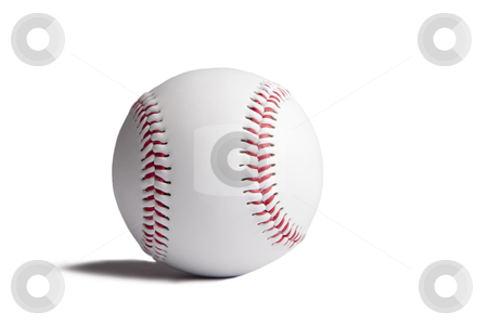 Baseball ball with shadow isolated on white background   stock photo, Baseball ball with shadow isolated on white background   by tomwang
