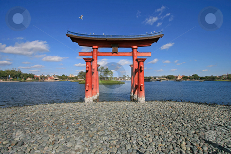 Japan stock photo, The Itsukushima Shinto Shrine in Hiroshima Prefecture by Lucy Clark