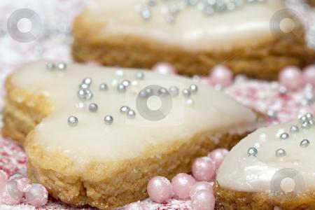 Homemade  Cookies for Valentine's Day stock photo, Heart shaped cookie by Olena Kornyeyeva