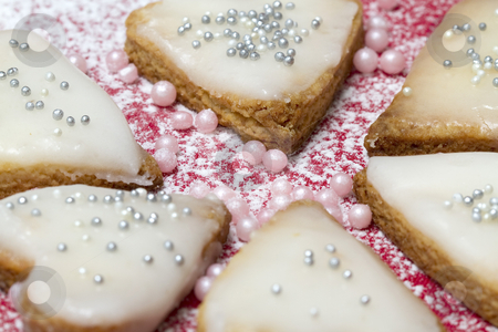 Heart cookie stock photo, Heart shaped cookie by Olena Kornyeyeva