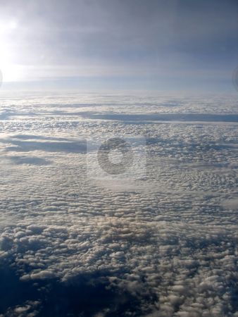 Clouds stock photo, View of a lot of Clouds from an airplane by Lucy Clark