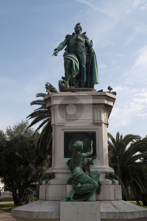 Napoleon stock photo, Statue of Napoleon in the center of Nice, France  by Kevin Tietz