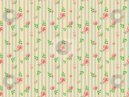 Seamless pattern - 20047 stock photo, Freehand drawing- little flower wrapping seamless pattern   by Tang Shu-chuan