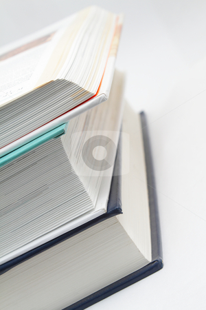 Stack of books stock photo, Photo of a stack of three books  by Olena Pupirina