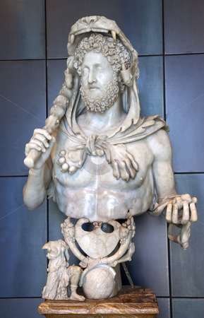 Hercules Statue Capitoline Museum Rome Italy stock photo, Ancient Hercules Statue Capitoline Museum Rome Italy   by William Perry
