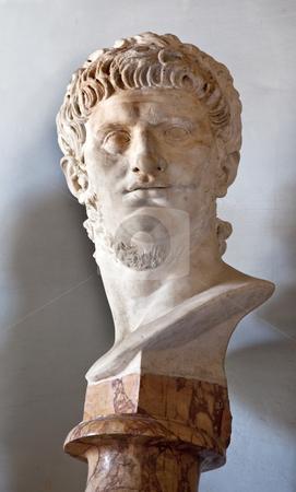Statue Emperor Neror Capitoline Museum Rome Italy stock photo, Statue Sculpture Bust of Roman Emperor Nero Capitoline Museum Rome Italy   by William Perry