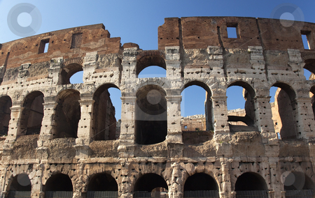 Roman Colosseum Rome Italy stock photo, Roman Colosseum Built by Vesparian   by William Perry