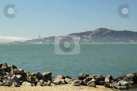 Seascape stock photo, Seascape with mountain on background on sunny day by Olena Pupirina