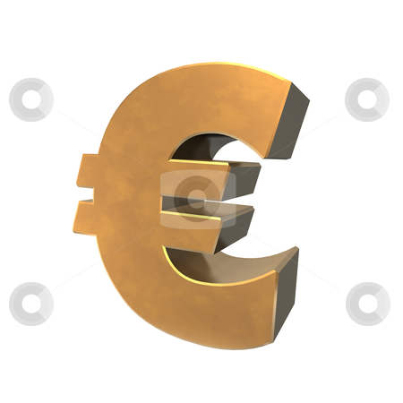 Euro stock photo, Euro symbol in 3d and gold. by Alexander Limbach