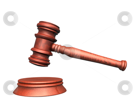 Judge stock photo, 3d illustration looks mallet of judge. by Alexander Limbach