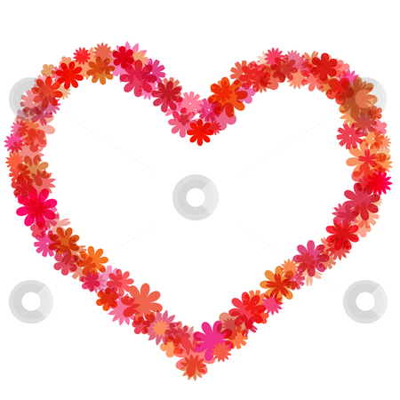 Happy Valentines Day Heart of Floral-Shaped Bokeh stock photo, Happy Valentines Day Heart of Floral-Shaped Bokeh Illustration by Thye Gn