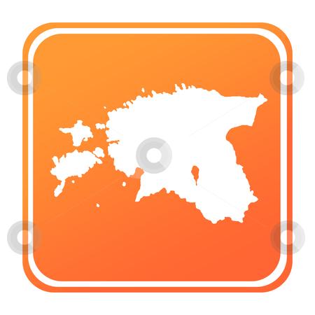Estonia map button stock photo, Illustration of Estonia map button; isolated on white background. by Martin Crowdy