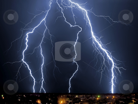 Lightning stock photo, Lightning by krasyuk