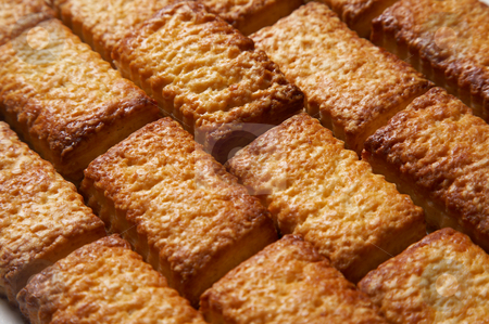 Sweet cookies stock photo, Hot baked sweet cookies out of the oven  by krasyuk