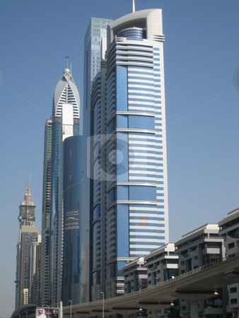 Skyscrapers in Dubai stock photo, Skyscrapers in Dubai, United Arab Emirates by Ritu Jethani