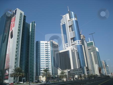 Skyscrapers in Dubai stock photo, Skyscrapers in Dubai, United Arab Emirates by Ritu Jethani