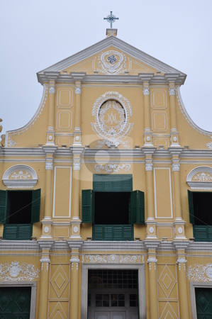 Church in Macau stock photo, Church in Macau, China by Ritu Jethani