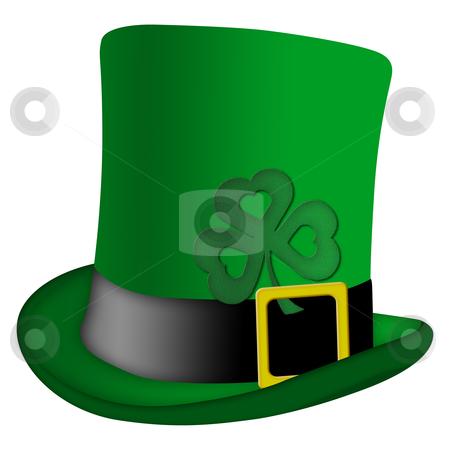 St Patricks Day Leprechaun Irish Hat stock photo, St Patricks Day Leprechaun Irish Green Hat with Shamrock Illustration by Thye Gn