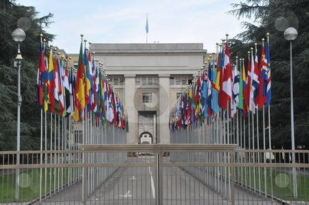 United Nations Headquarters in Geneva stock photo, United Nations Headquarters in Geneva, Switzerland by Ritu Jethani