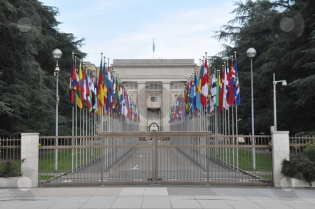 United Nations Headquarters in Geneva stock photo, United Nations Headquarters in Geneva, Switzerland by Ritu Jethani