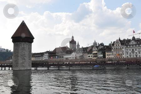 Wooden Bridge in Lucerne stock photo, Wooden Bridge in Lucerne, Switzerland by Ritu Jethani
