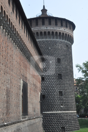 Sforza Castle in Milan stock photo, Sforza Castle in Milan, Italy by Ritu Jethani