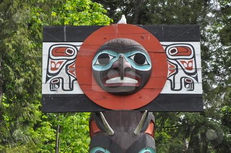 Totem Poles in Stanley Park stock photo, Totem Poles in Stanley Park in Vancouver, Canada by Ritu Jethani