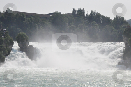 Rhine Falls in Schaffhausen stock photo, Rhine Falls in Schaffhausen at the border of Germany and Switzerland by Ritu Jethani